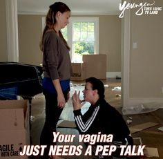 Sometimes your vagina needs a pep talk. Watch Sutton Foster and Debi Mazar in the next episode of Younger. 10/9 C on TV Land. Click to watch a current episode.