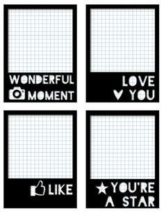 """Free """"Polaroid"""" Journal Cards from scrappystickyinkymess"""