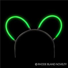 GLOW ANIMAL EARS. These Glow Animal Ears are super colorful and glow in the dark. Simply snap the glass capsule to make the chemicals mix together and create light. This item is perfect for night time parties. Sold by the dozen. Comes with an adjustable band. #TrickofTreat #Halloween #Lightups #GlowintheDark #CandyFree