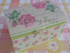 Design by Suzi: Šperkovnica Jewelry Box, Jewellery, Decoupage, Decorative Boxes, Coin Purse, Purses, Diy, Design, Home Decor