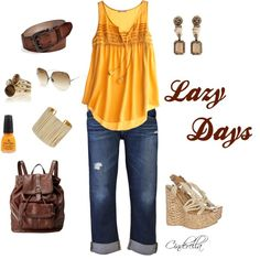"""Lazy Days"" by c1nd1rella on Polyvore"