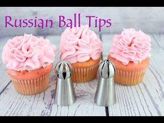 Russian Ball Tips & Ruffle Tips Cupcake Decorating Tips, Creative Cake Decorating, Creative Cakes, Cookie Decorating, Decorating Ideas, Russian Icing Tips, Russian Cakes, Meringue, Cupcakes Flores