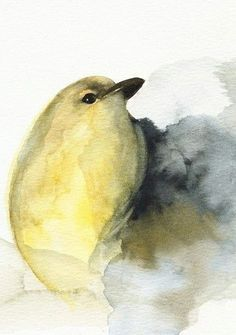 "Bird Watercolour ~ Amber Alexande ""Hold fast to dreams, For if dreams die Life is a broken-winged bird, That cannot fly."" ― Langston Hughes"