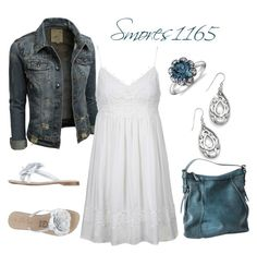 """""""Summer Sundress"""" by smores1165 ❤ liked on Polyvore featuring Topshop, Positano and Blue Nile"""