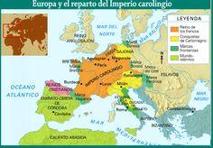 Mapa Imperio Carolingio