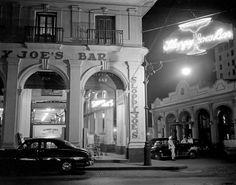 Fotografía nocturna del Sloppy Joe´s Bar de La Habana 1950