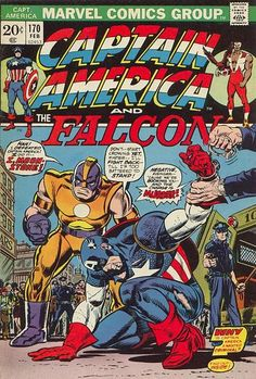 Moonstone is part of a plot to discredit Captain America - and the Falcon can only...what? He's out of town getting his wings waxed?