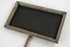 """This comes from a really cool website for DIY crafts.  Chalkboards Wood Framed Signs with Pole (15-1/2"""" tall)"""
