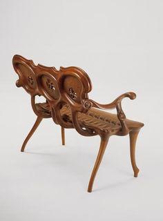 Antoni Gaudi for BD Barcelona. Unique Furniture, Shabby Chic Furniture, Furniture Design, Mae West, Silla Art Deco, Muebles Estilo Art Nouveau, Antonio Gaudi, Bd Art, Art Deco Chair