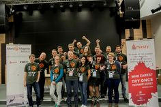 A group portrait of the local organizers of #mm14by #meetmagento Meet Magento BY | Flickr - Photo Sharing!