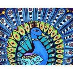Heather Galler Owls   抽象画アートポスター / Peacock