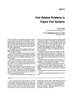 Fuel Related Problems in Engine Fuel Systems on JSTOR Woodward Governor, World In Motion, Fuel Additives, Core Competencies, Gas Turbine, Jet Engine, Commercial Vehicle, Free Reading