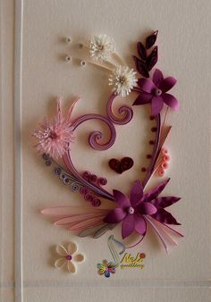 Neli Quilling Art: Quilling cards - With love. Neli Quilling, Quilling Paper Craft, Paper Crafts, Diy Crafts, Quilling Patterns, Quilling Designs, Origami, Rolled Paper Art, Quilled Creations