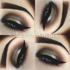 Kiss Makeup, Glam Makeup, Makeup Tips, Hair Makeup, Cute Eyeshadow Looks, Makeup Looks, Beautiful Eye Makeup, Makeup For Green Eyes, Professional Makeup Artist