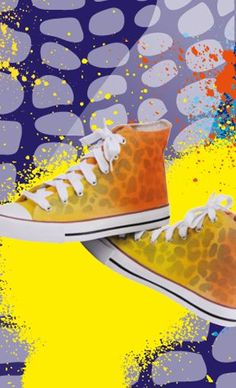 Chucks mit Leo-Optik - Marabu Farben... LUV IT!!!