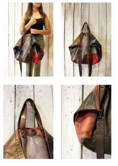 BOUQUET NEW Handmade Italian vintage leather  Tote Handbag\backpack di LaSellerieLimited su Etsy