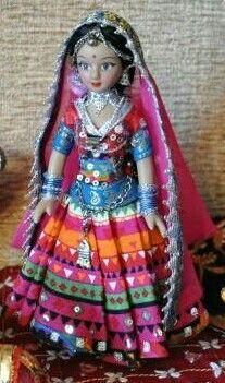 Doll in Indian tribal wear....