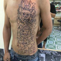 Neko, Tatoos, Samurai, Tattoo Designs, Naruto Tattoo, Tattoos, Tattooed Guys, Tattoo Patterns, Design Tattoos