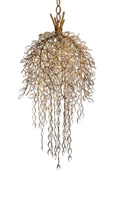 #PADParis Contemporary design. Willow Chandelier, bronze and crystal, limited edition of 7, 2014. Thomas Pheasant Studio.