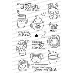 christmas doodles Cup of Cocoa Stamp Set 2017 Newtons Nook Designs Doodle Drawings, Easy Drawings, Doodle Art, Christmas Doodles, Christmas Drawing, Christmas Cup, Bullet Journal Ideas Pages, Bullet Journal Inspiration, Coffee Doodle