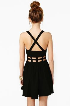 Nasty Gal - New & Vintage Clothing -  Band Apart Skater Dress $68