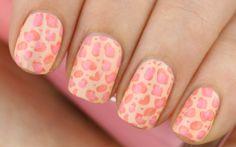 Nail Art: Peach Leopard (Konad)