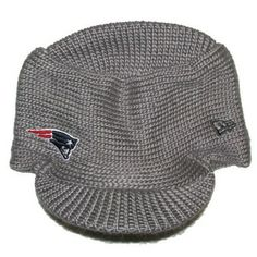 Official New England Patriots ProShop - Ladies New Era Snow Sergeant Visor Knit #patriots
