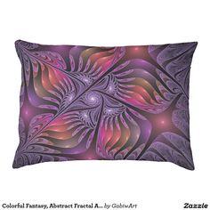 Colorful Fantasy, Abstract Fractal Art Dog Bed