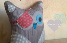 Pirate stuffed 0wl kid's room decor  stuffed owl toy  by Renouitas