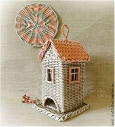 "Чайный домик ""Старый город"" - чайный домик,плетеный,розовый потертый,серый"