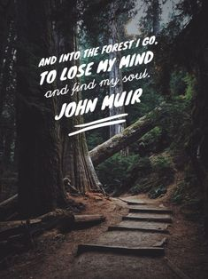 10 John Muir Quotes to Inspire You to Take a Muir Woods Tour Travel quotes 2019 - Into The Woods Quotes, Walk In The Woods, Happy Quotes, Love Quotes, Inspirational Quotes, Quotes Quotes, Quotes Positive, Positive Thoughts, Wisdom Quotes