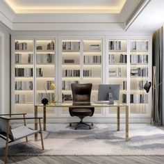 现代欧式书房书房家装空间模型-3d模型分享交流平台-原创3d模型下载-3d模型下载网站