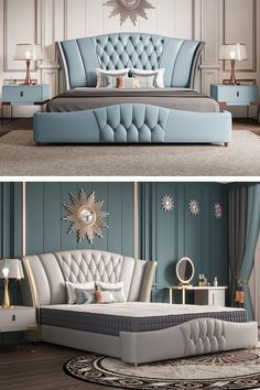 Bed Headboard Design, Sofa Bed Design, Living Room Sofa Design, Room Design Bedroom, Bedroom Furniture Design, Bed Furniture, Modern Luxury Bedroom, Master Bedroom Interior, Luxury Bedroom Design