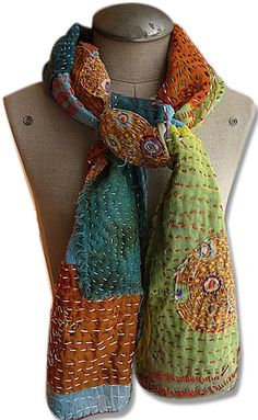 Embroidered & Layered Scarf Tutorial