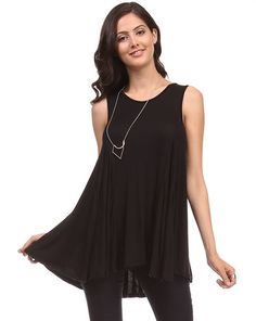 Sleeveless Trapeze Top in Black http://therusticrack.com/collections/category-name-bottoms-category-path-bottoms-category-name-sale-category-path-sale-category-name-sleeveless-tank-tops-category-path-tops-sleeveless-tank-tops/products/sleeveless-trapeze-top-in-black