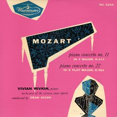 Vintage record cover - Mozart