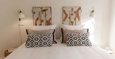 These beautiful headboards really make the room, just see fo…