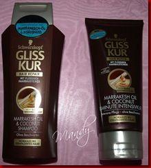 Bei der Gliss Kur Facebook Testaktion habe ich eines von 200 Produktpaketen aus der Pflegeserie Gliss Kur MARRAKESH OIL & COCONUT gewonnen.Dieses besteht aus Shampoo und 1-Minute Intensivkur.    Beide Produkte möchte ich euch heute etwas näher vorstellen.