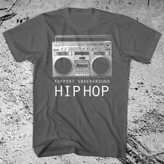 support Underground hip hop Boom box Shirt. All by GraphicVillain, $15.00