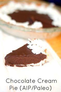 """""""Chocolate"""" Cream Pie (AIP/Paleo)"""