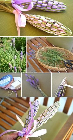 Let& get ready for Christmas with DIY gifts!- Prepariamoci al Natale con i regali fai da te! These perfumes and linens are very simple to make and really nice, for example, combined with a bath basket, towels or a perfume. Lavender Wands, Lavender Crafts, Lavender Uses, Craft Projects, Projects To Try, Diy And Crafts, Arts And Crafts, Deco Nature, Nature Crafts