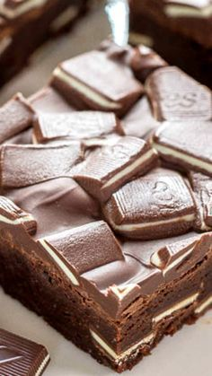Andes Mint Brownies ~ It's a fast, one-bowl, no mixer recipe that's as easy as using a mix. The brownies are ultra fudgy, not at all cakey, ridiculously rich, boldly chocolaty, and perfectly minty.