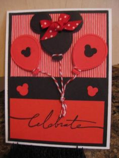 Minnie Mouse birthday card by LynnieN - Cards and Paper Crafts at Splitcoaststampers