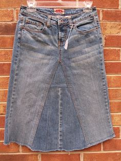 Items Similar To Below Knee Jean Skirt Size 7 Junior On Etsy