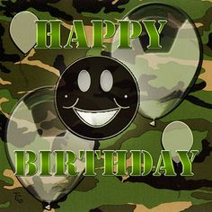 Green Camo Happy Birthday!