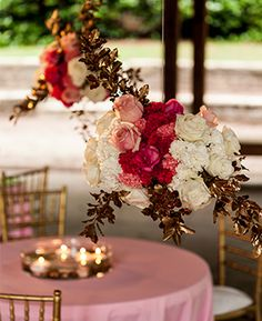 #PinkandGold | Ricky Whitley Bridal Events Florist | Nick Frontiero Photography | #AlabamaWeddings