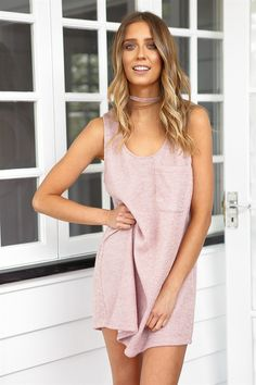 Knit Shift Dress | SABO SKIRT