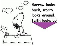 Faith looks up!