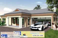 Tuscan House Plans, Modern House Plans, Modern Houses, Home Design Floor Plans, House Floor Plans, House Outside Design, House Design, Single Storey House Plans, 5 Bedroom House Plans