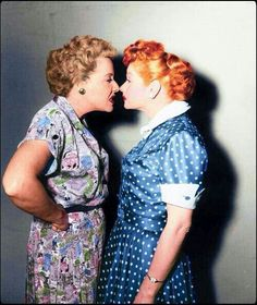 I Love Lucy: Ethel and Lucy nose to nose-Vivian Vance and Lucille Ball